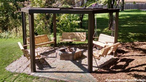 backyard swing the circle of swings this awesome backyard structure