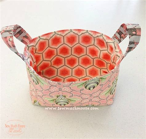 pattern fabric storage basket making fabric storage baskets sew much moore
