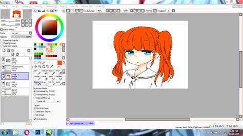 cara membuat paint tool sai version paint tool sai tutorial cara mewarnai rambut anime