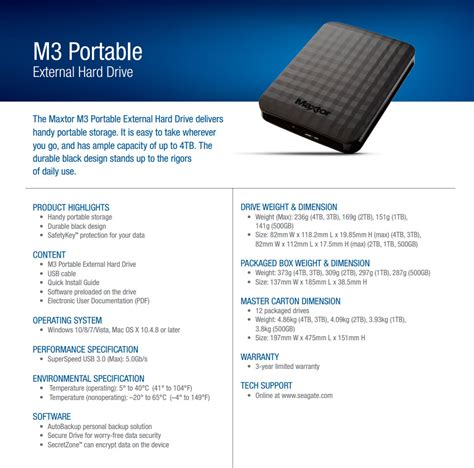 Maxtor Hdd Ext M3 Portable 1 Tb Speed Usb 3 0 New Pouch Pen seagate maxtor m3 portable usb 3 0 4tb external hdd iitsupport