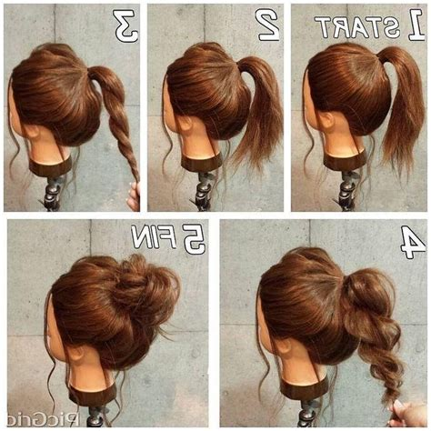 quick easy casual hairstyles ideas 2018 latest casual updos for long thick hair