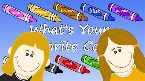 favourite colour what s your favorite color youtube