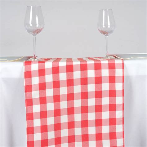 Checkered Table Runner by 36 Checkered Gingham Polyester Table Runners 14 X 108