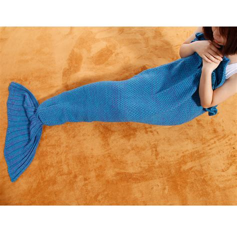mermaid tail sofa blanket mermaid tail handmade crocheted cocoon sofa beach quilt