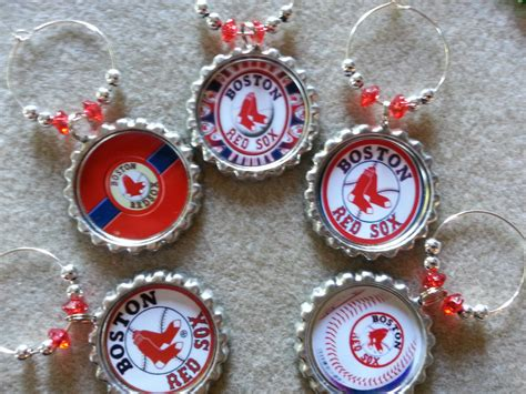 party supplies 2 boston red sox theme wine charms and