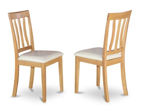 kitchen and dining room chairs set of 2 antique dinette kitchen dining chairs leather cushioned seat light oak ebay