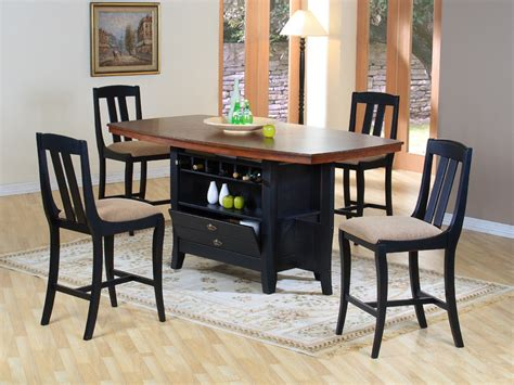 kitchen island dining set kitchen island dining set traditional wood rectangular dining area furniture collection with