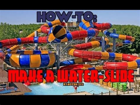 how to build a water slide in your backyard how to make a fun water slide in minecraft youtube