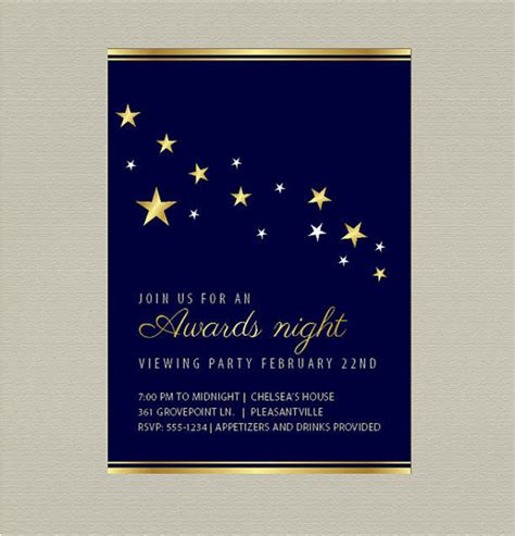invitation template for award ceremony wedding