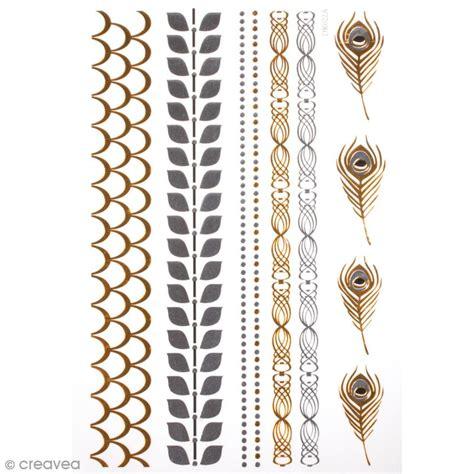tatouage temporaire bijoux bracelets et plumes 10
