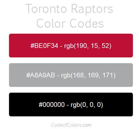 toronto raptors colors hex and rgb color codes