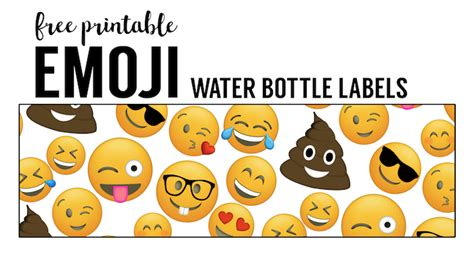 Reasonably Priced Home Decor by Emoji Water Bottle Labels Free Printable Paper Trail Design