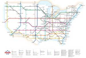 awesome u s highways map styled like a subway guide