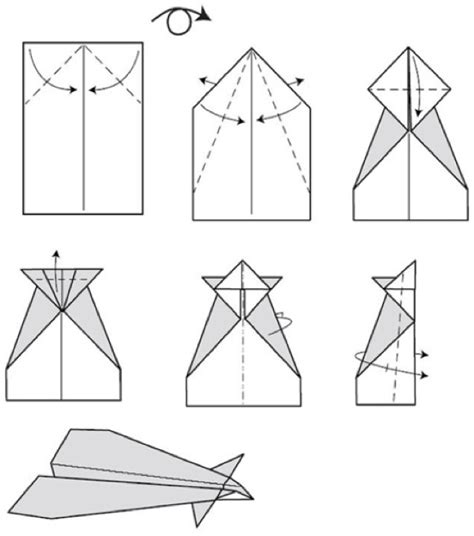 conrad paper airplane step by step boys