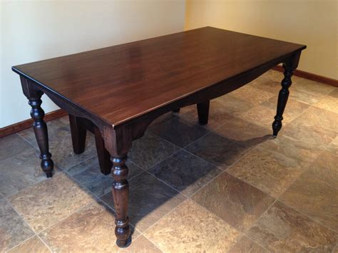 Harvest Style Dining Table Missouri Hickory Wood Creates Beautiful Harvest Table Osbor With Kitchen Table Cool Black