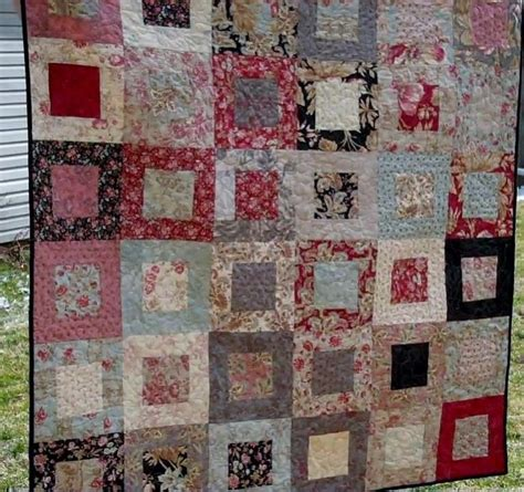 quilt pattern jelly roll and charm pack beginner block for a jelly roll and charm pack vid01392