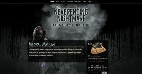 haunted house website design haunted house website design 28 images sinister visions website design logo design