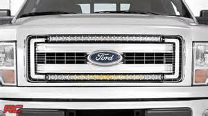 2013 F150 Led Light Bar 2009 2014 Ford F 150 30 Inch Curved Single Row Led Light Bar Grille Mount Kit By Country