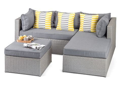 grey wicker outdoor furniture calabria grey rattan garden sofa
