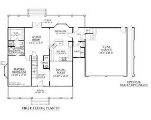 house plan 2109 b mayfield quot b quot first floor plan colonial 2 story house plans with first floor master