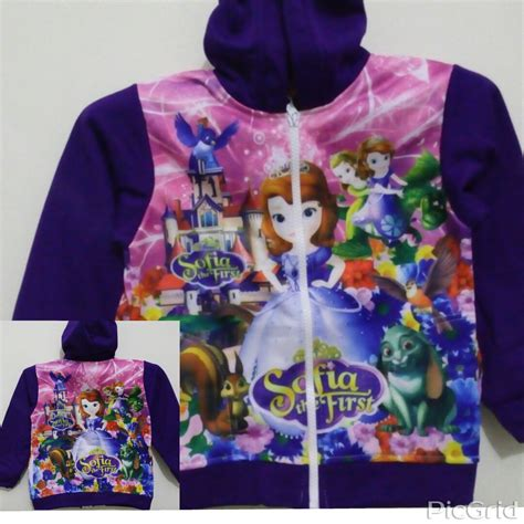 Jaket Karakter Size grosir jaket anak karakter sofia size m grosir eceran baju anak murah berkualitas