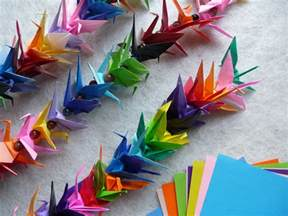 How To Make A Folded Paper Chain - origami crane chain artclubblog
