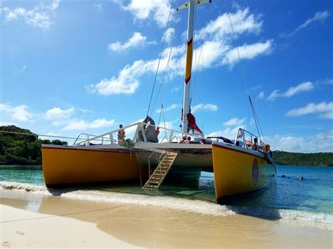 sandals antigua reviews our wadadli catamaran all day excursion highly