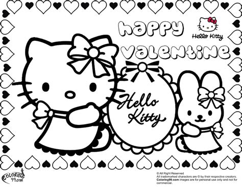 free hello kitty valentines day coloring pages hello kitty valentine coloring pages team colors