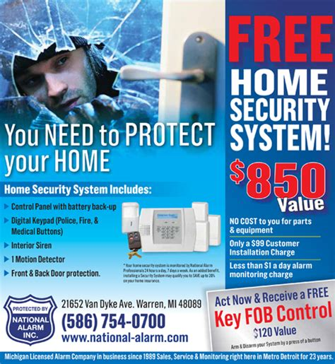 national alarm michigan home security alarm systems