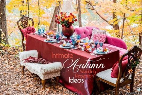 Autumn Wedding Reception Ideas by Intimate Autumn Wedding Reception Ideas Confetti Co Uk