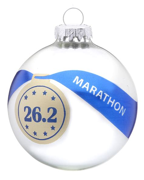 marathon personalized ornament