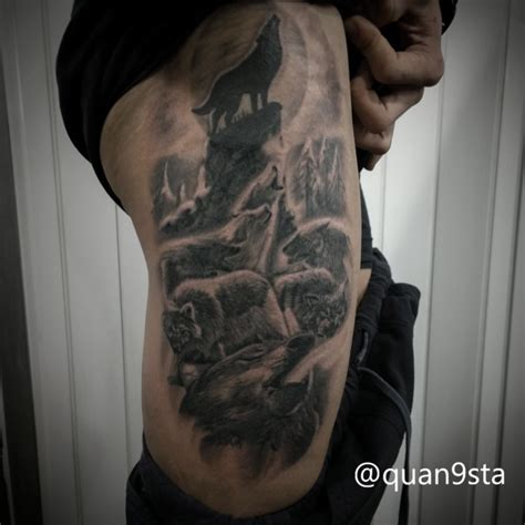 moon tattoo wolf tattoos on instagram