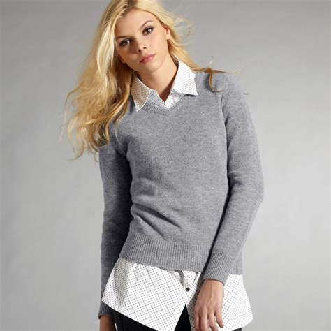 Jaket Sweater Blazer Carissa R0631 vancl v neck wool sweater grey sku 33227