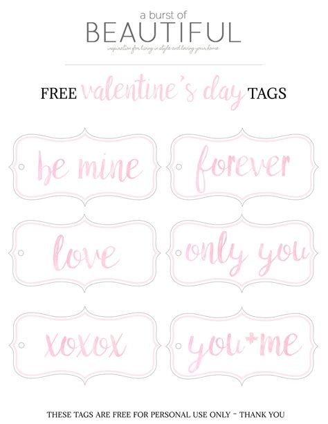 printable list of html tags valentine s day gift tags free printable a burst of