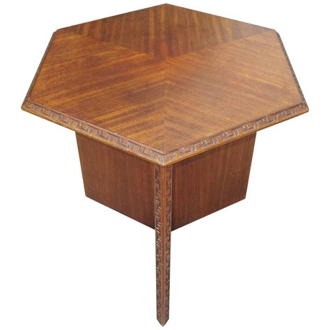 frank lloyd wright side table for heritage henredon 1955