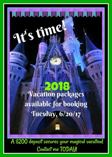 book your 2018 vacation package five reasons to book your 2018 disney vacation now