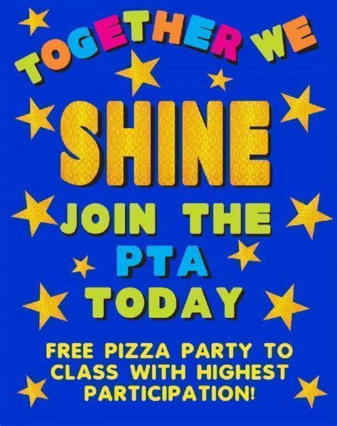 Star Shaped Lights by Make A Poster About Pta Membership Drive Pta Poster Ideas