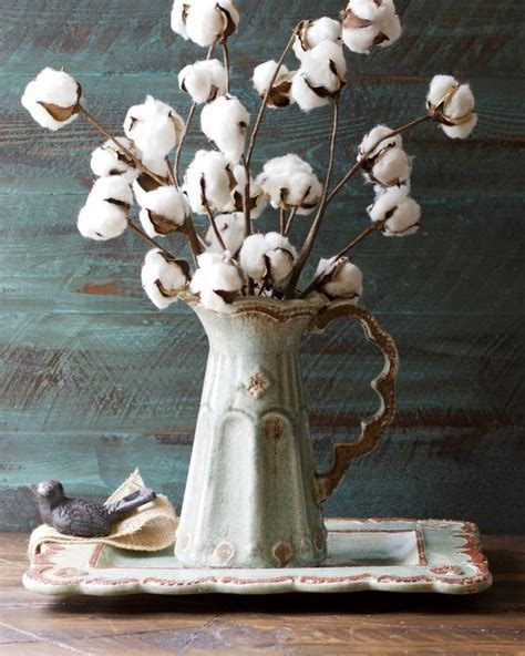 xmas floral decoration using cotton stalks 17 and soft cotton d 233 cor ideas shelterness