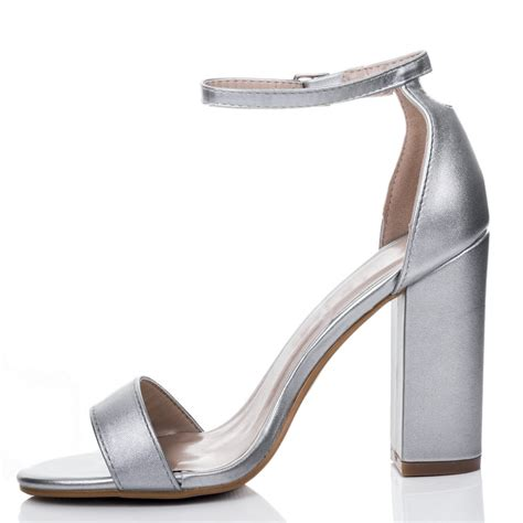 silver heeled sandals sass silver sandals shoes from spylovebuy