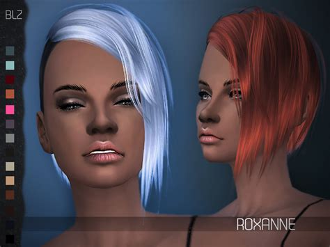 sims 4 hairstyle shaved side blz roxanne hair