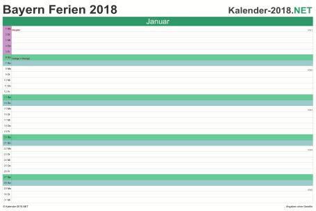 Kalender 2018 Zum Ausdrucken Ferien Bayern Ferien Bayern 2018 Ferienkalender 220 Bersicht