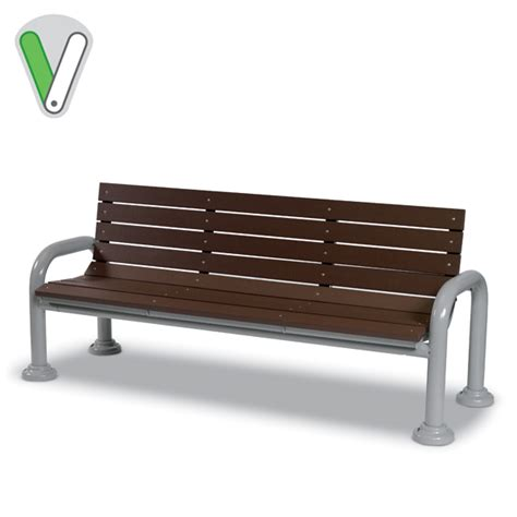 valley bench green valley 6 bench with back portable surface mount