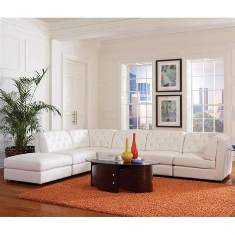 white modular sofa coaster quinn transitional modular leather sectional sofa