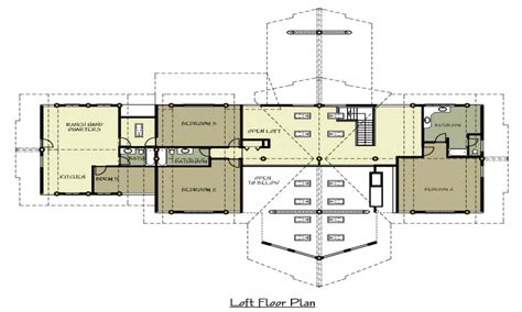 ranch home blueprints ranch log home floor plans with loft craftsman style log