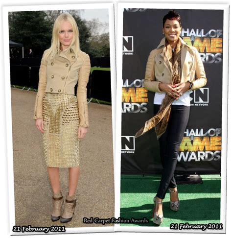 Who Wore It Better Kate Bosworth Vs Thandie Newton In Preen by Who Wore Burberry Prorsum Better Kate Bosworth Or