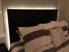 how to make a floating headboard with led lighting