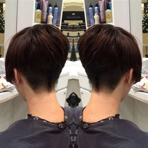 very short womens hairstyle for the back back views of short haircuts