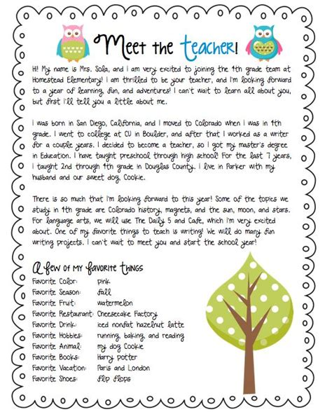 Introduction Letter To Kindergarten Students Best 25 Introduction Letter Ideas On