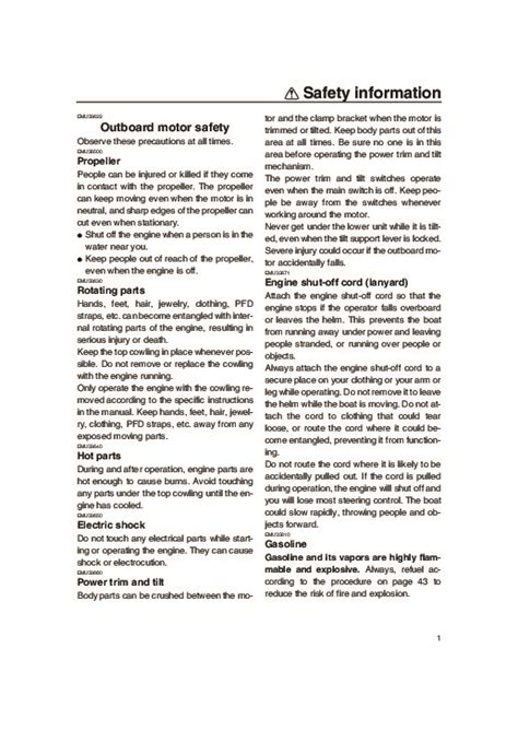 2007 Yamaha Outboard 115 Boat Motor Owners Manual