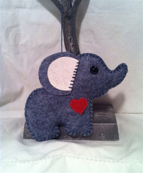 Elephant Handmade - handmade felt elephant ornament by feltloved on etsy